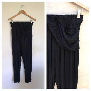 IRO Jaren rouged semi-sheer pants rayon black sz36